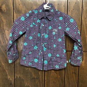 Cruel girl western button up shirt for girls